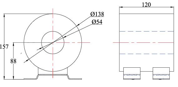 产品概述: LDC高精度穿心电流互感器适用于交流电力系统10kV35kV供用电设备的电流测量、电能计量、信号采样和微机保护。该电流互感器具有体积小、重量轻、安装方便等特点,已在SafeRing/Plus、Uniswitch、、RM6/SM6、SVS、GA/GE、FB、SS、FTR等系列紧凑型全绝缘环网开关柜,组合式变电站和电缆分接箱中广泛应用。并且非常适合与RTU,FTU等远程终端设备组成采样单元为整个系统提供精确数据支持。 该型电流互感器选用新型导磁材料作为测量绕组的铁芯,其高磁导率、较低的饱和磁感应